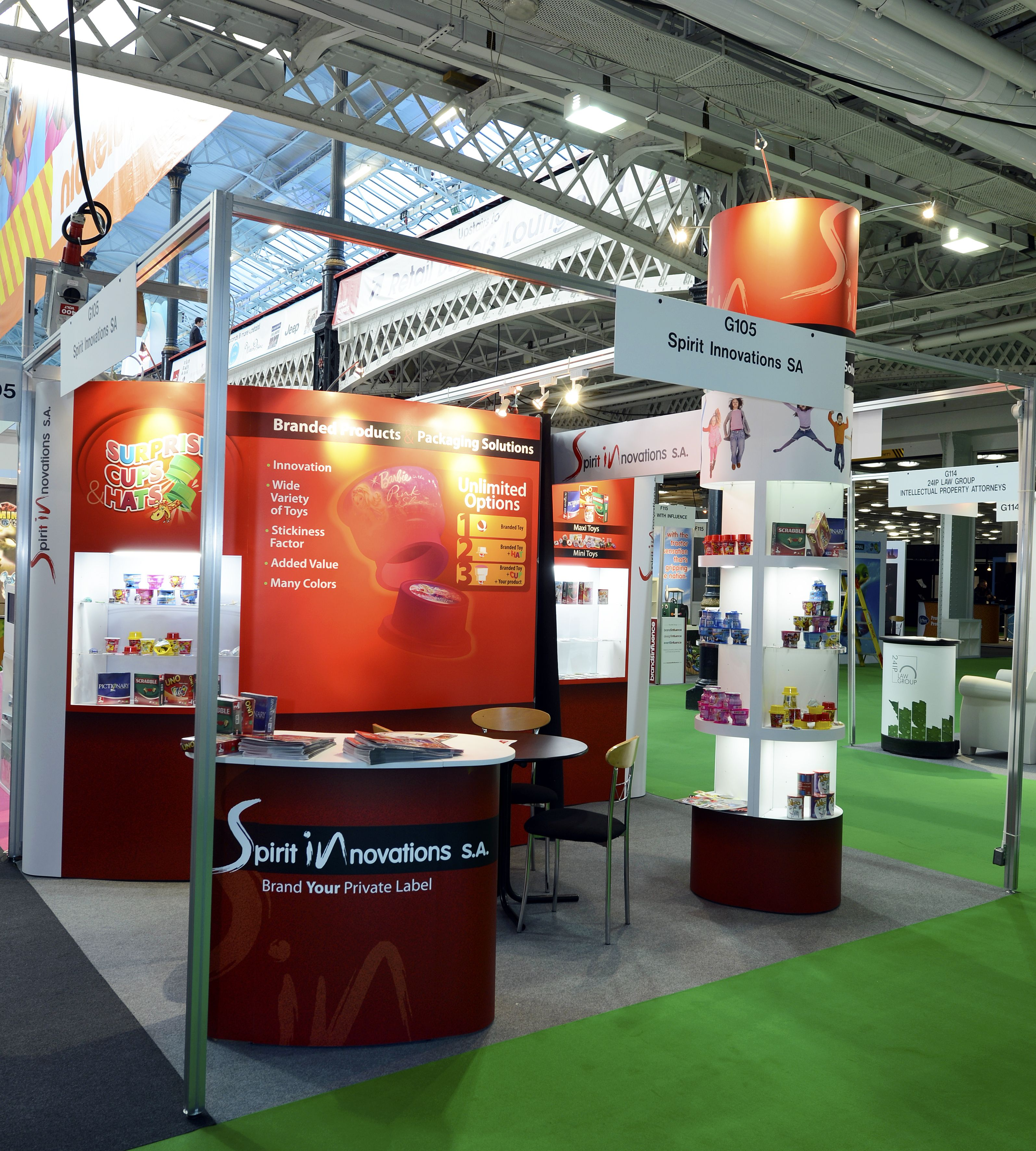 Exhibition Shell Zone : Shell scheme exhibition stand for spirit innovations at