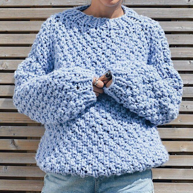 aeb1ffcbddb0cd Free pattern for this double moss knit chunky sweater -- KNIT SAFARI