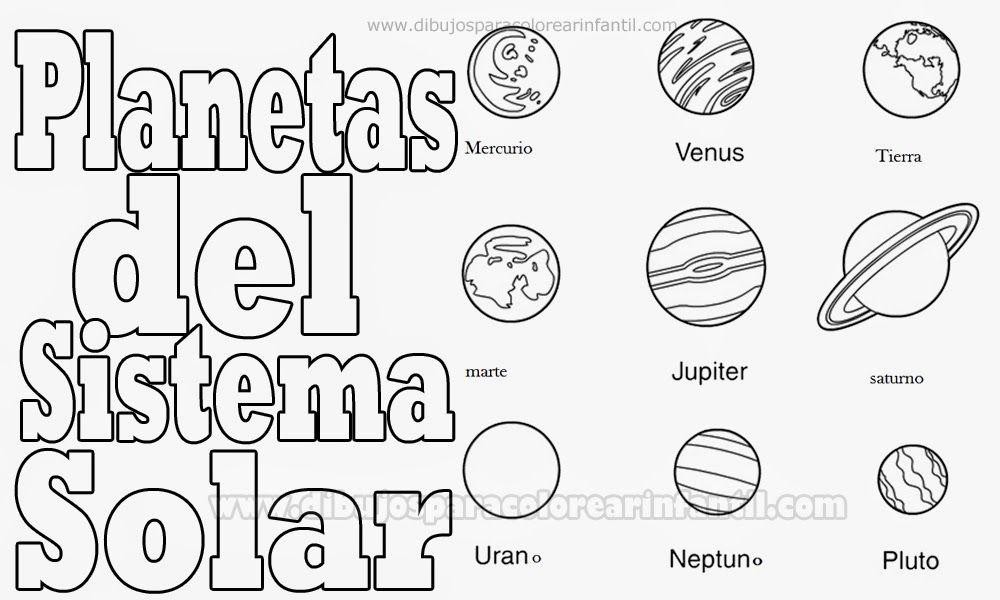 Dibujos para colorear infantil planetas para colorear - Dibujos infantiles del espacio ...