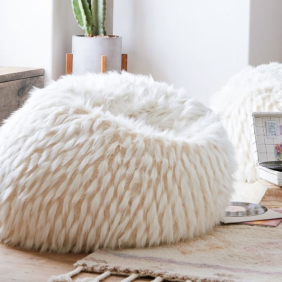 Wondrous Winter Fox Faux Fur Beanbag In 2019 2018 Mias Bedroom Inzonedesignstudio Interior Chair Design Inzonedesignstudiocom