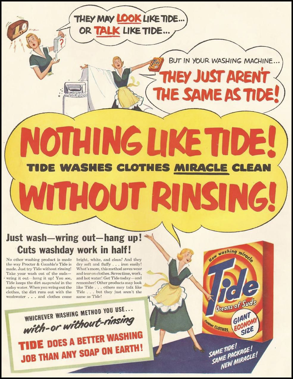 Tide 1950 #retroads #1950s - http://www.retro.red/tide-1950/