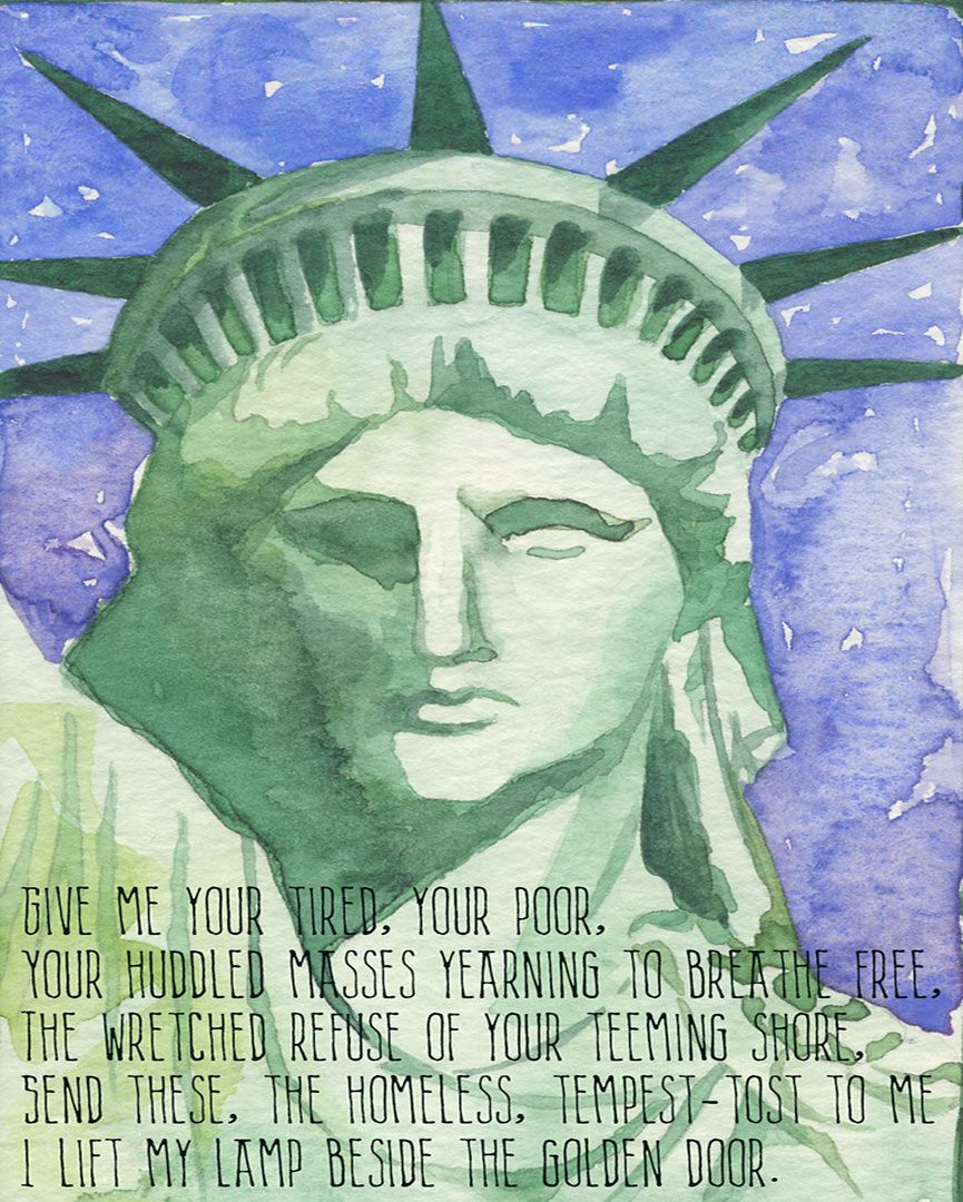 Hillel Print | Sand art, The new colossus, Liberty quotes
