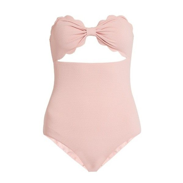c814c2c8c447 Marysia Swim Antibes scallop-edged swimsuit ($348) ❤ liked on Polyvore  featuring swimwear, one-piece swimsuits, bodies, light pink, halter bathing  suit ...