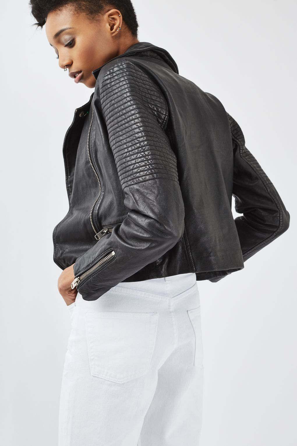 Real Leather Biker Jacket Jackets, Leather, Classic leather