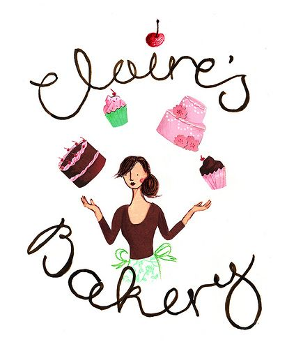 Business Design Claires Bakery Logo