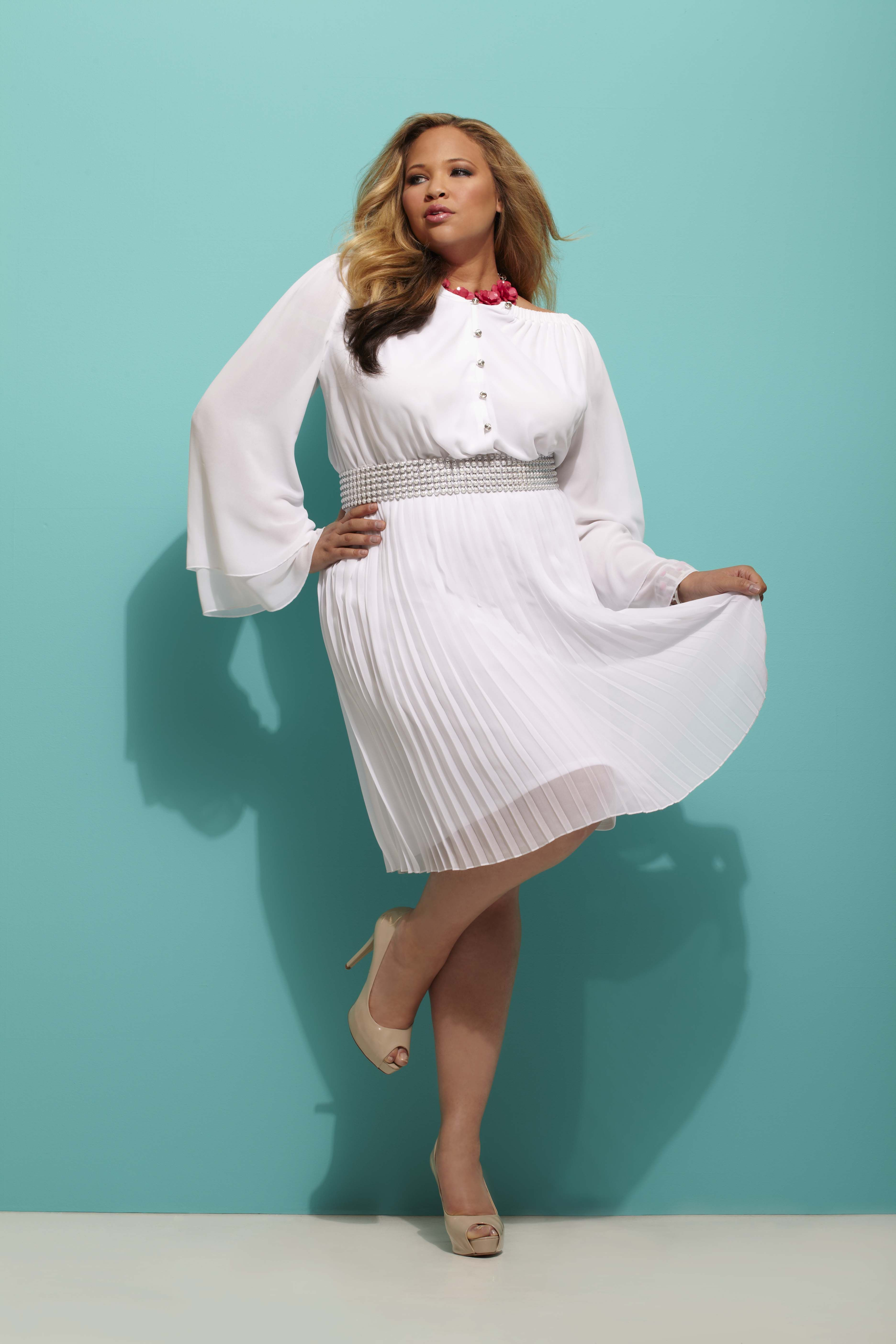 b0fe17a422 Ashley Stewart Model Sarah Flack This dress is to DIE for  WhiteHot ...