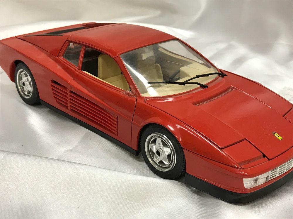 Burago Ferrari Testarossa 1984 Car Model Scala 1 18 Made In Italy Red Mo 938 Burago Ferrari Ferrari Testarossa Car Model Ferrari