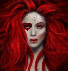 dark alice in wonderland makeup - Google Search
