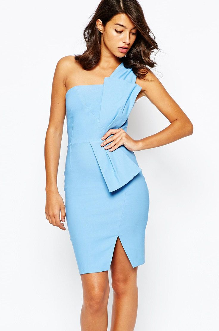 Vesper Sexy Pencil Dress with Bow Tie Waist