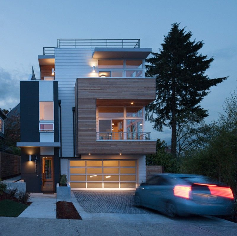 Wood, Windows Star In Modern Seattle Home With Lake Views   Http://