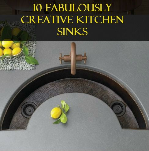 10 Fabulously Creative Kitchen Sinks Bar Sink Sink Design Sink