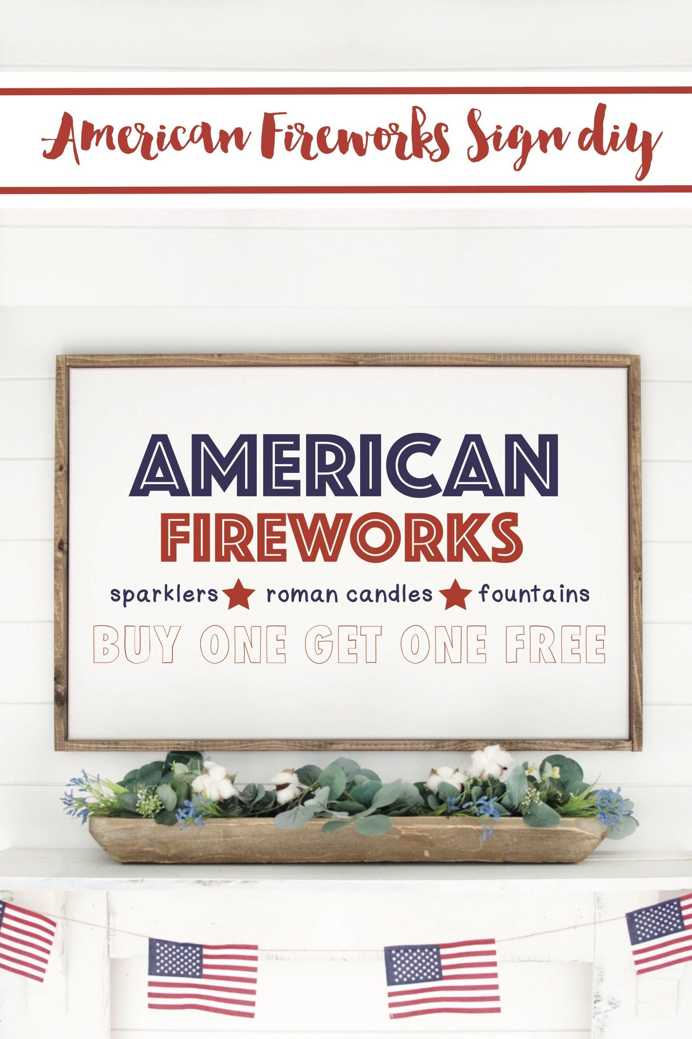 Celebrate the Fourth of July with an adorable DIY Fireworks Stand Sign. #diy #cricut #cricutmade #gigglesgalore #gigglesgalorecreates #4thofjuly #fourthofjuly #diy #crafts #holidaycrafts