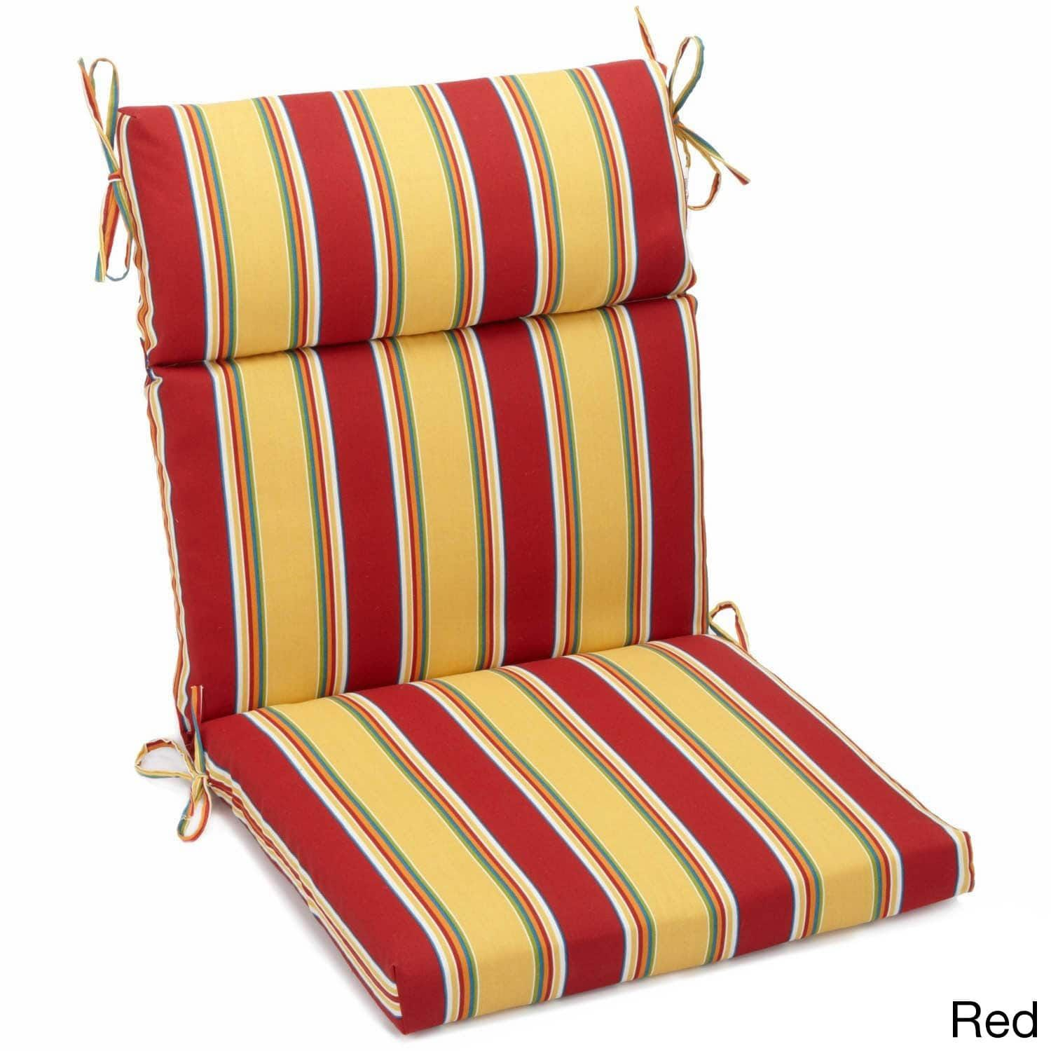 Blazing Needles Outdoor Three Section Seat/Back Chair Cushion (45 X 22)