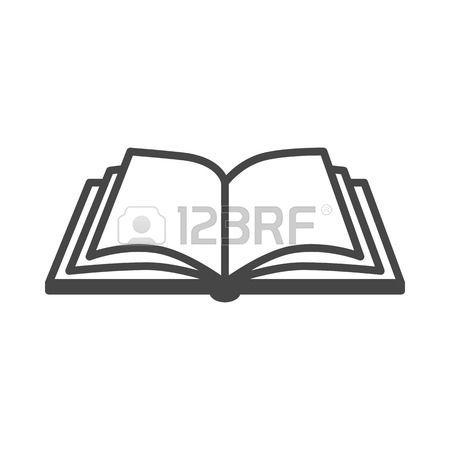 Livre Ouvert Ouvrir Le Livre Vecteur Icone Sur Un Fond