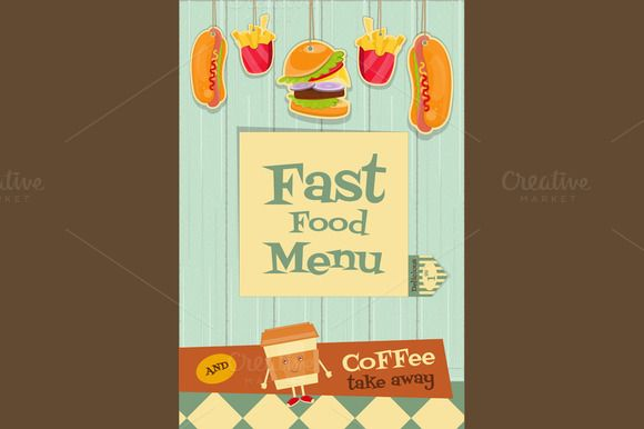 Fast Food Menu by elfivetrov on Creative Market