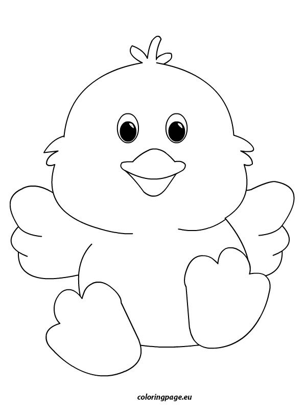 happy easter chick coloring pages - photo#11