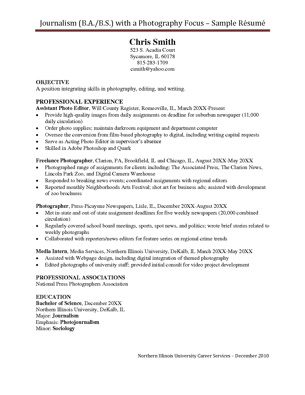 jobcentre cv sample