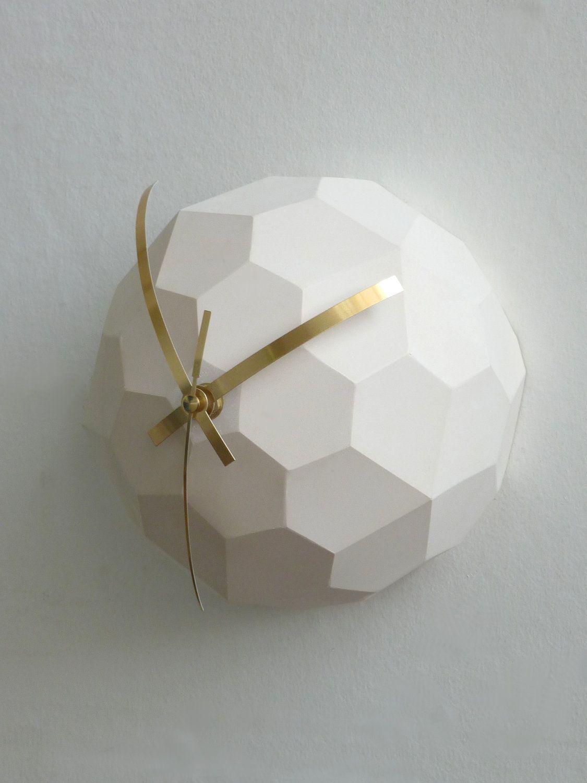 Polyhedra Globe Wall Clock. £55.00, via Etsy.