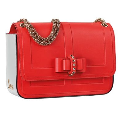 Red bow clutch - Christian Louboutin Spring Summer 2013 - wadulifashions.com