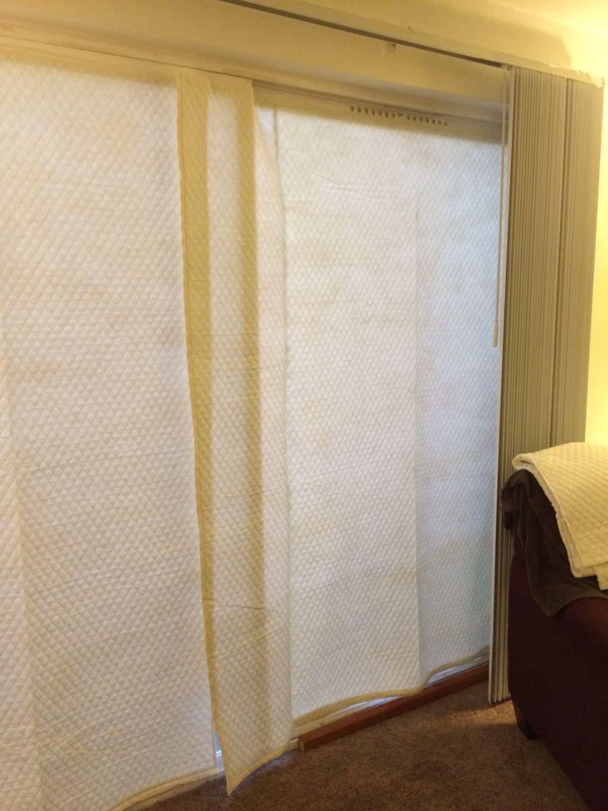 sliding glass door insulating quilt