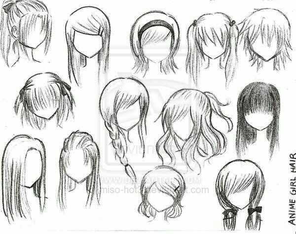 Girl Hairstyles How To Draw Manga Anime Anime Character Drawing Manga Hair Cartoon Hair
