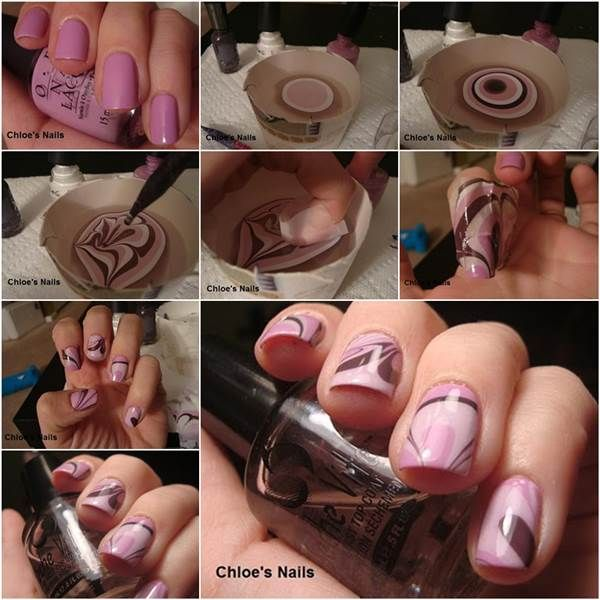 How to DIY Beautiful Water Marble Nail Art | iCreativeIdeas.com Like Us on Facebook ==> https://www.facebook.com/icreativeideas