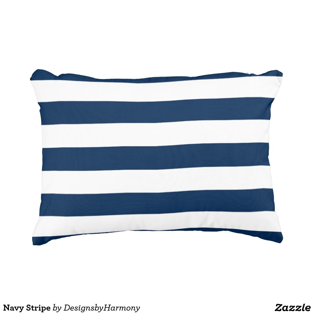 Navy Stripe Accent Pillow