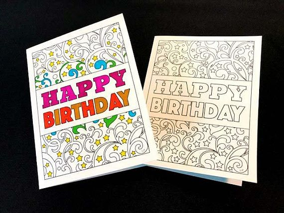 Happy birthday card with swirls and stars pdf zentangle coloring happy birthday card with swirls and stars pdf zentangle coloring page print and color your bookmarktalkfo Choice Image