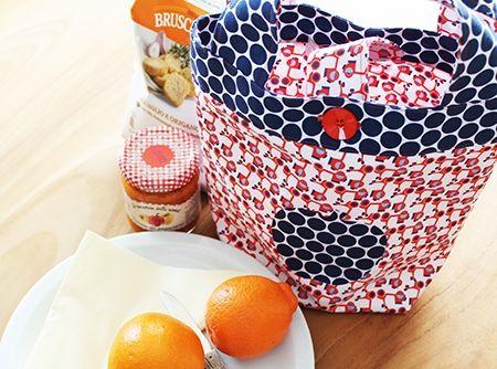 Gratis patroon om een lunchtasje te naaien.