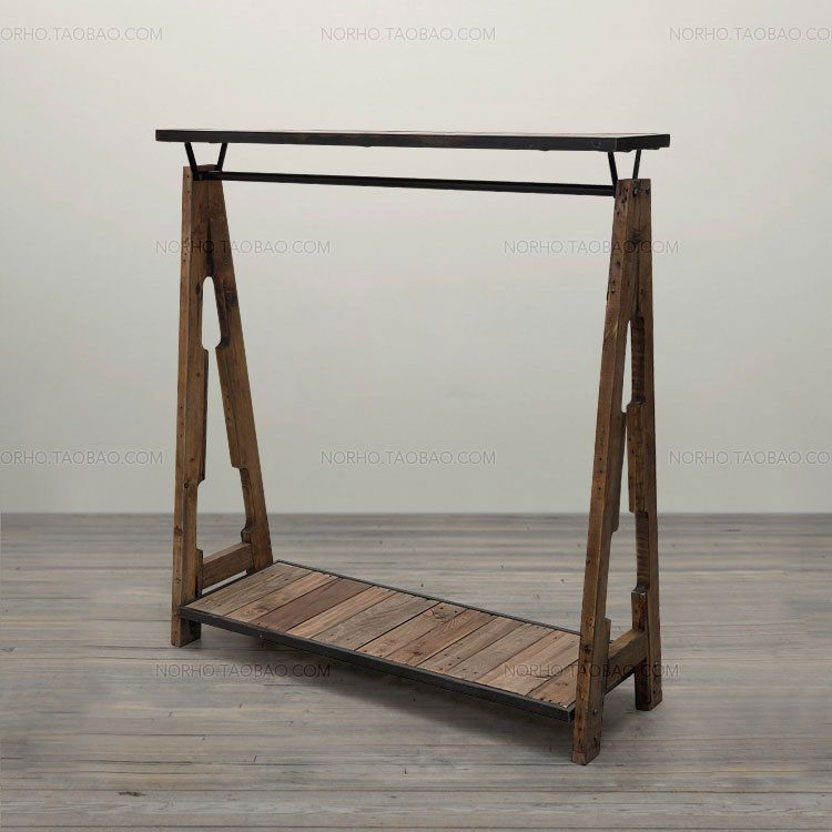 Special combination of retro clothing racks wrought iron