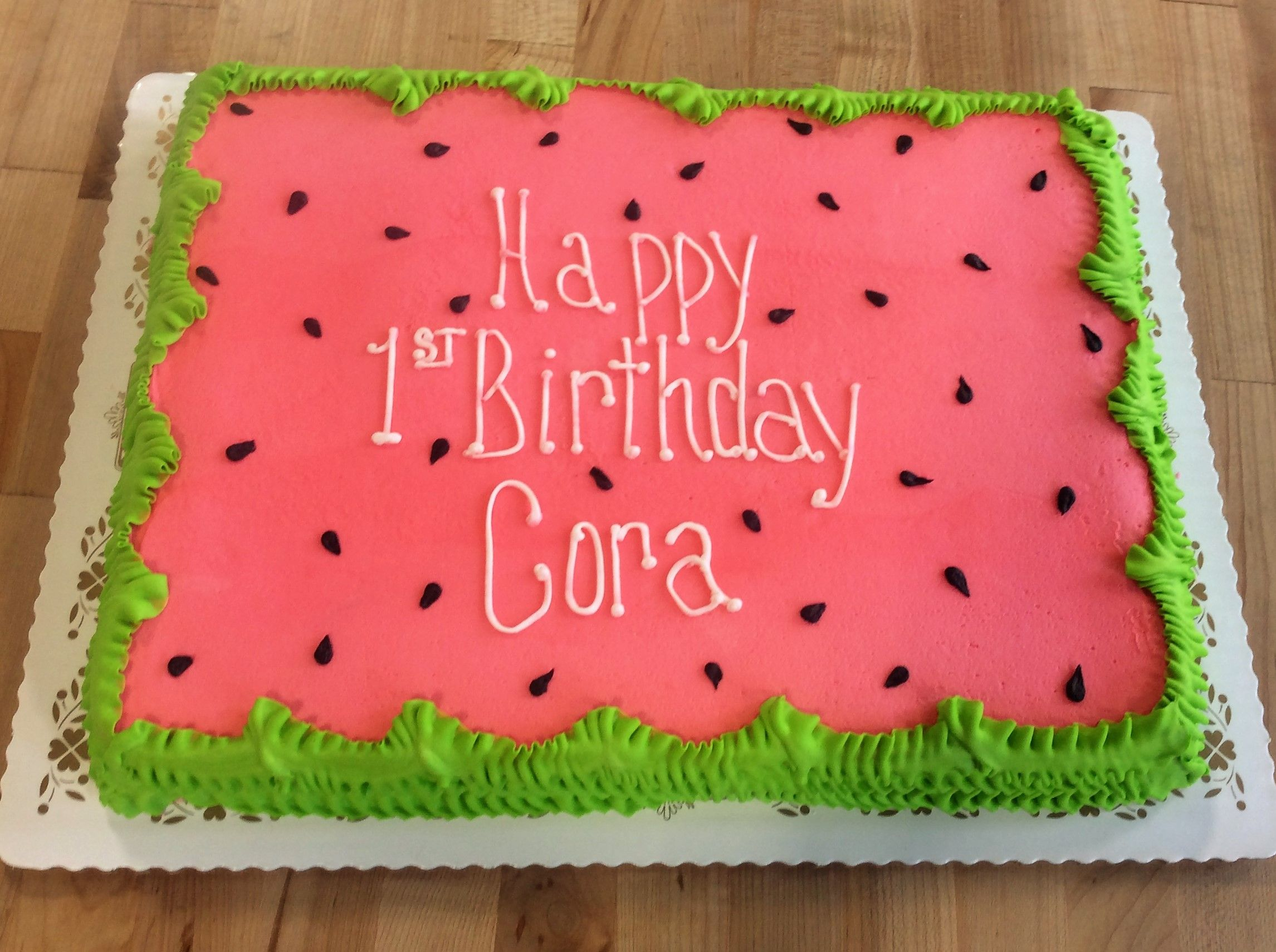 Miraculous Watermelon Sheet Cake Watermelon Cake Birthday Watermelon Funny Birthday Cards Online Inifofree Goldxyz