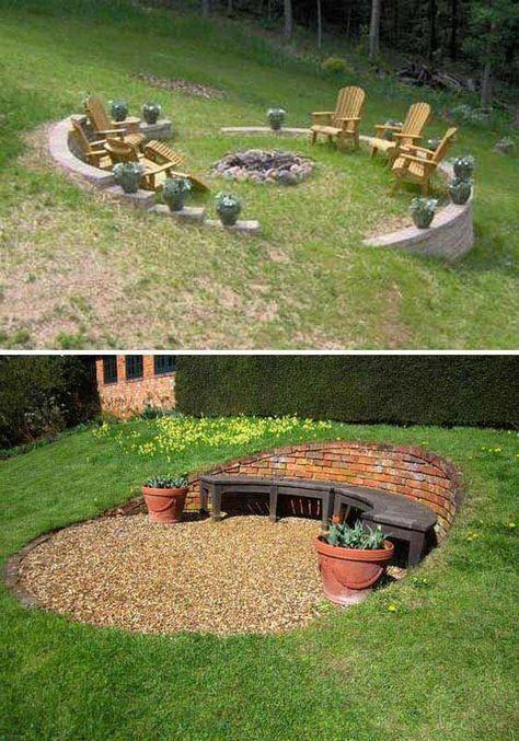 Garden on incline design tips #slopingbackyard | Sloped ... on Inclined Backyard Ideas id=19719