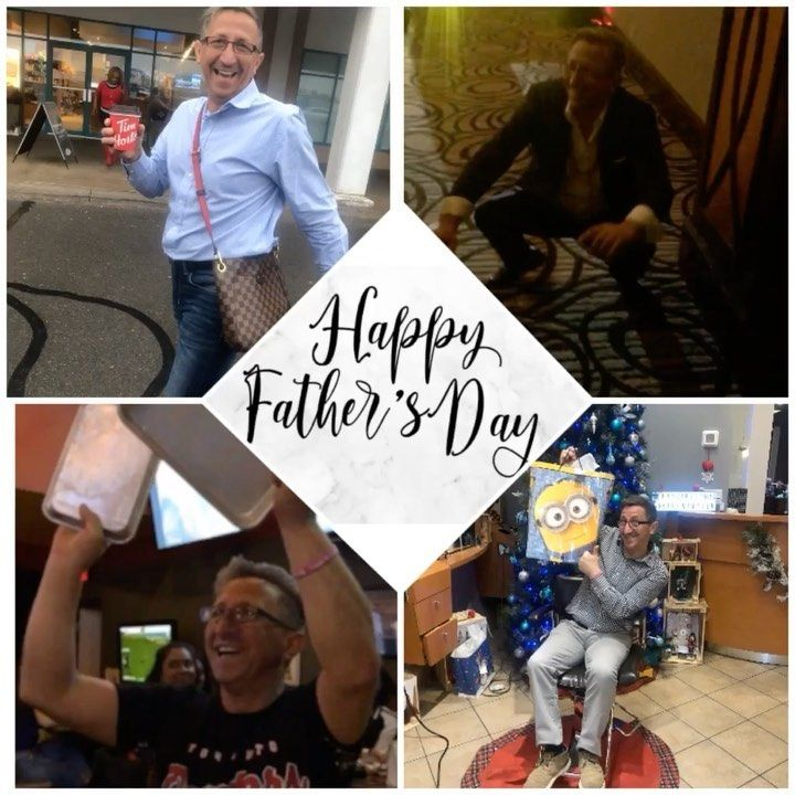"""Happy Father's Day to all the amazing, hard working, fathers out there!  The Wave Girls would like to wish Cristian a very Happy Father's Day! Thank you for being our """"salon dad"""" and working with all us girls and still staying calm 😂 💪🏽 #wavesalonandspa #girldad #happy #father #day #happyfathersday #smile #friends #family #insta #instagood #instagram #dad #superhero #follow #share #like #dreamteam #teamwork #dance #picture #celebrate #weekend #weekendvibe #positivevibes #fun #memories #hairsa"""