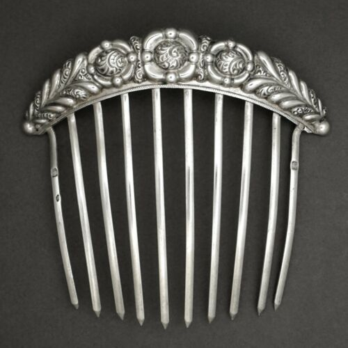 Opal Comb Decorative Hair Comb Antique Comb Silver Comb Woman Hair Accessory Vintage Hair Comb Jeweled Comb Victorian Comb