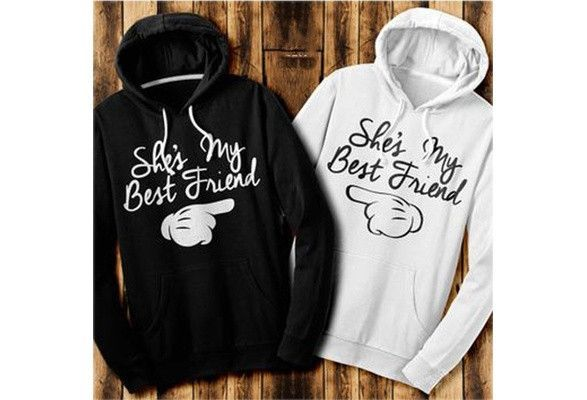 Fashion Best Friends Hoodies Print Hooded Tops Women s Fashion Casual Hoodies  Top  9324880260  c29e0bb92b