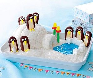 Penguin Ice Cream Cake