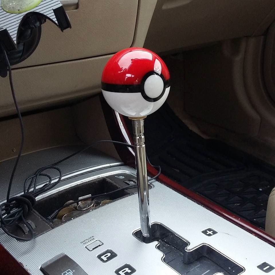catch them gears with these pokeball shift knobsthese solid resin