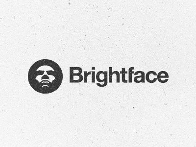 brightface logo  / pinned on toby designs