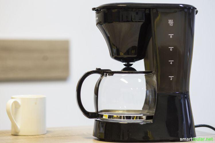 Kaffeemaschine entkalken Das richtige Hausmittel für