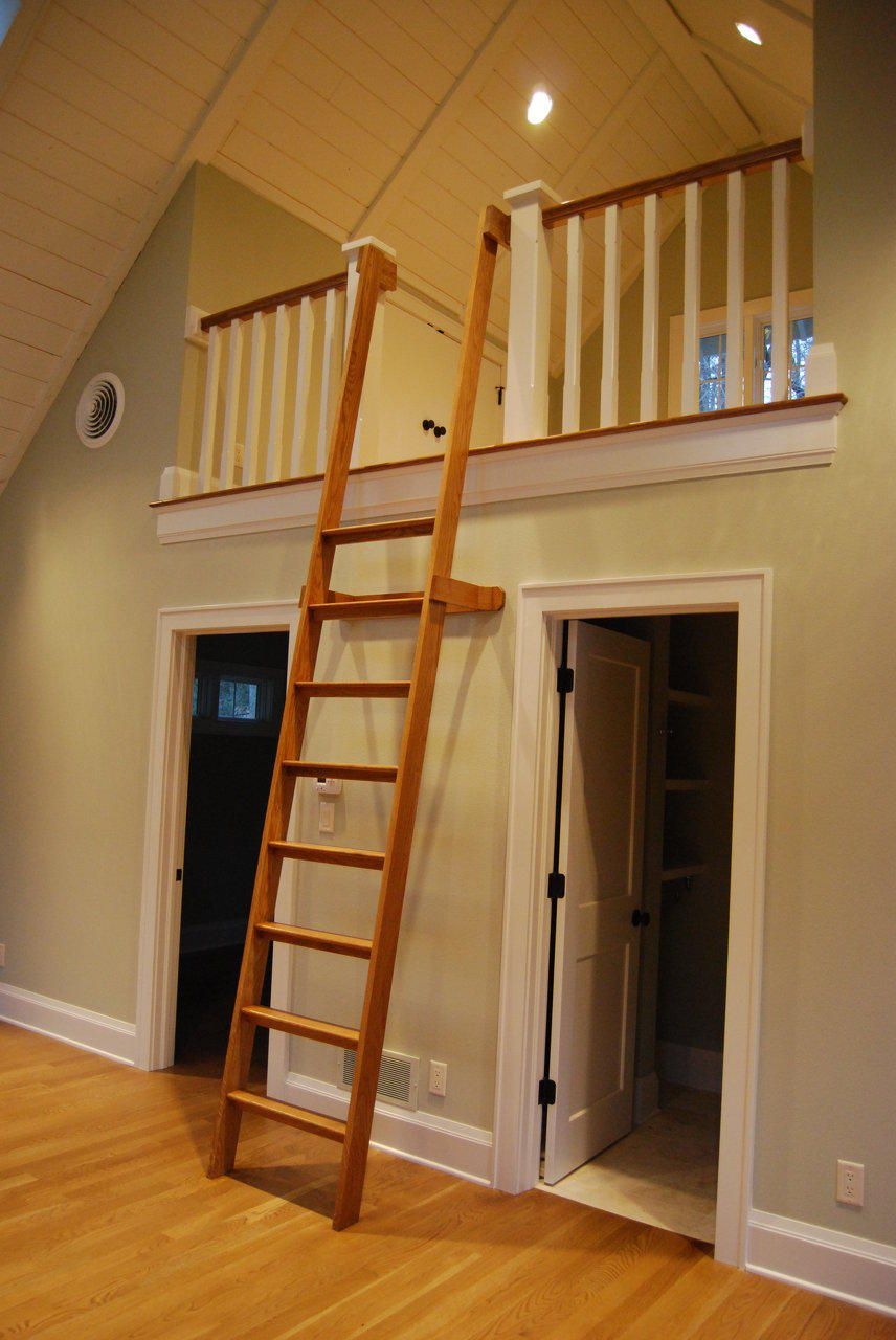 loft with ladder Google Search Loft railing, Loft