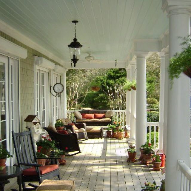 Wrap Around Porch Homes Pinterest Country Porch Southern Front Porches Dream Porch