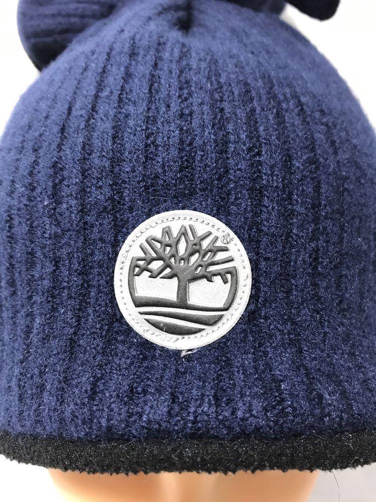 0049bce3d Timberland wool hat Ponytail Beanie hat toboggan Navy Blue | eBay ...