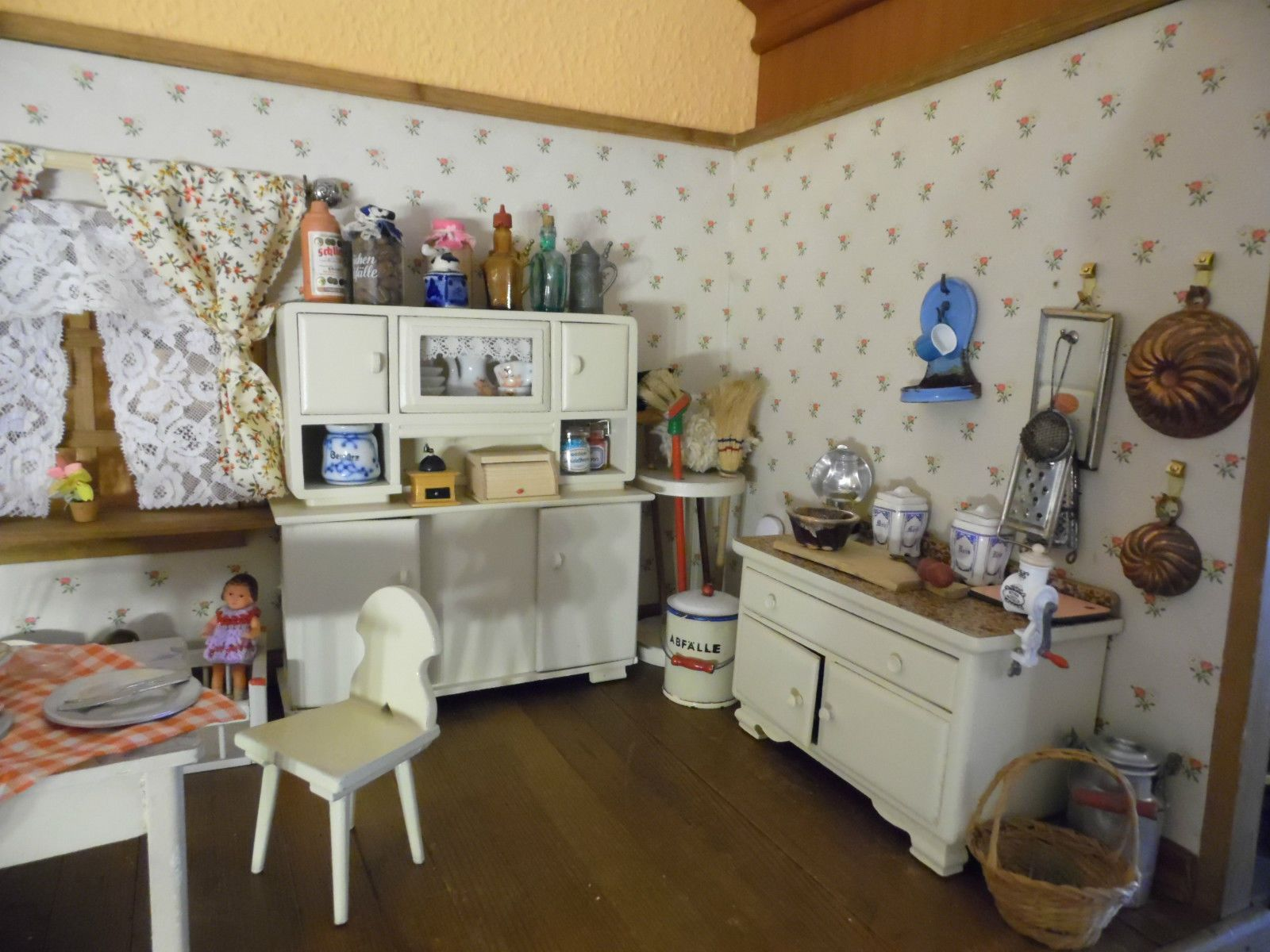 puppenk che puppenstube puppenm bel alt antik ebay pinteres. Black Bedroom Furniture Sets. Home Design Ideas
