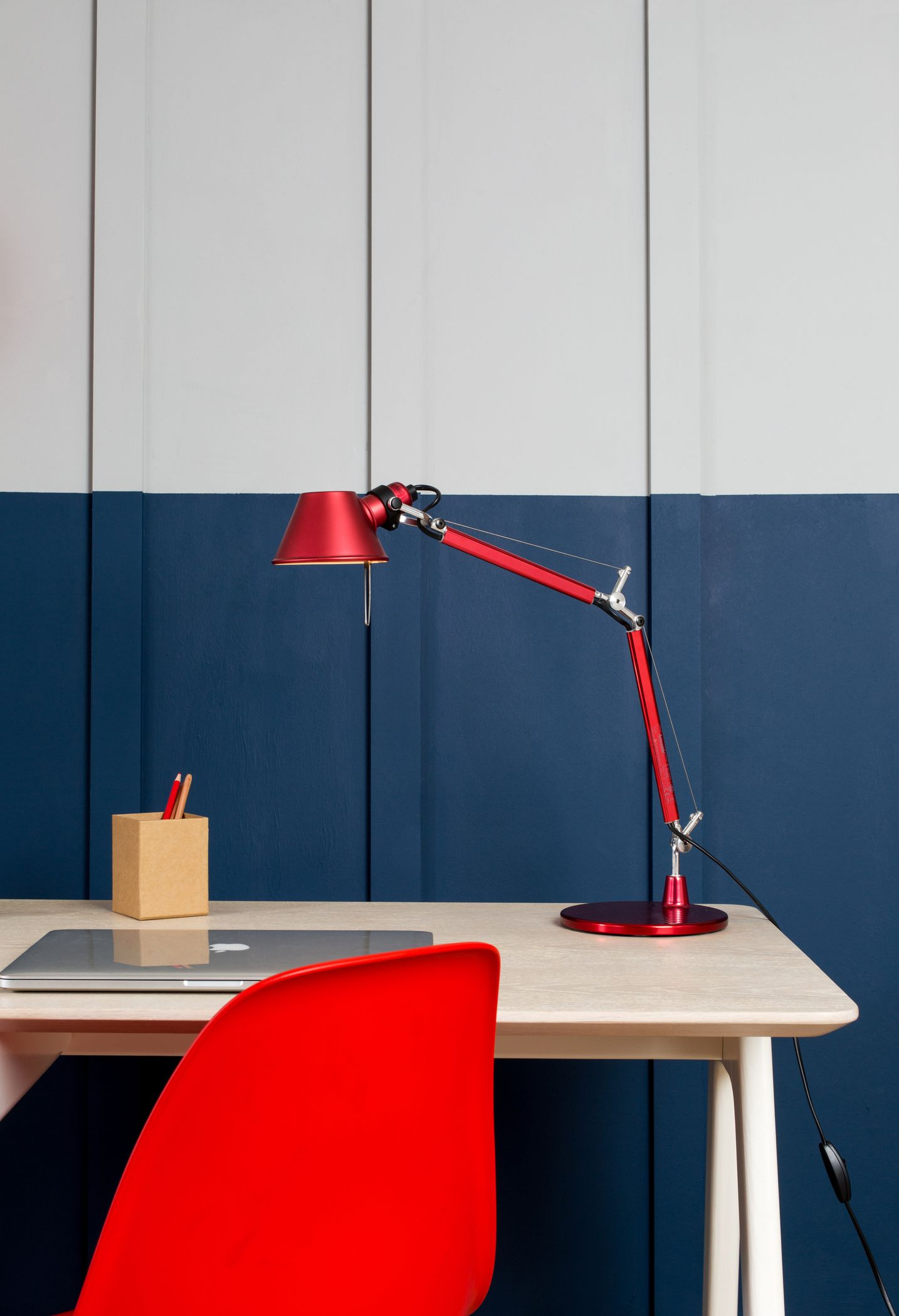 Task And Desk Lighting At Heal S Shot On A Deep Blue Backdrop Read The Full Blog For More Office Inspiration
