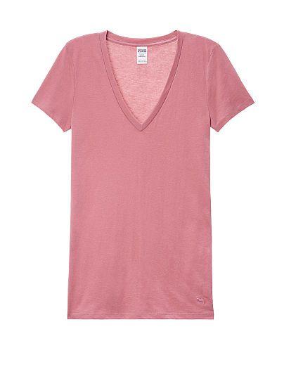 Essential V-Neck Tee   Vs pink outfit, Victoria secret ...