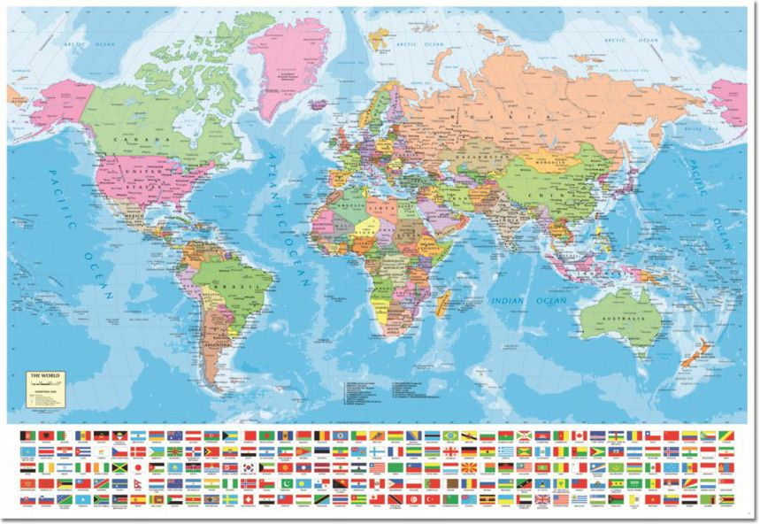 World map with flags 1500pc jigsaw puzzle by educa this and that world map with flags 1500pc jigsaw puzzle by educa gumiabroncs Image collections