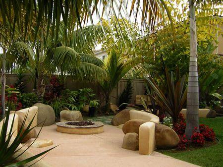 Balin Butler Design, Landscape Design San Diego, CA, Firepit, Tropical  Plants