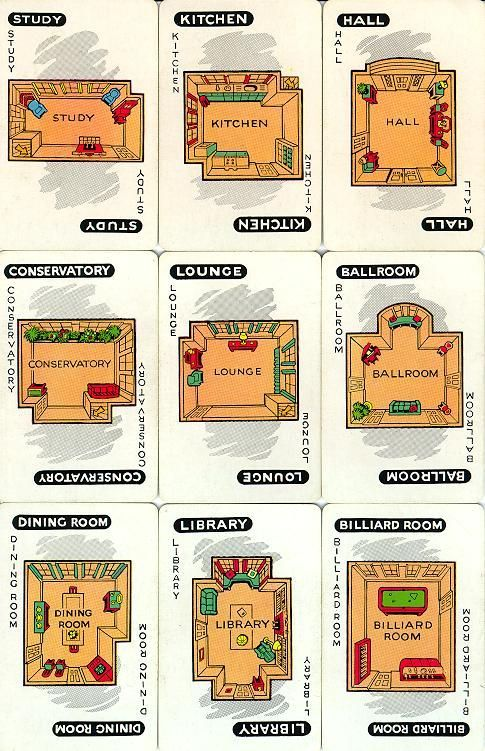 Zany image inside printable clue game cards