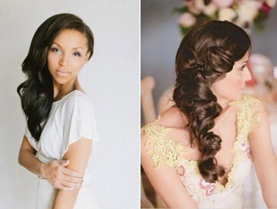 Glamorous Side Waves   Wedding Hair Down-Styles