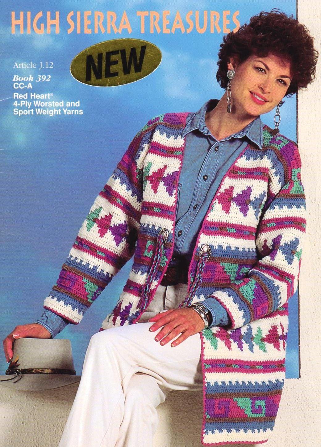 b5eef9c7a7a5 Crochet Indian Tribal Jacket Sweater Coat   Hat Pattern ...